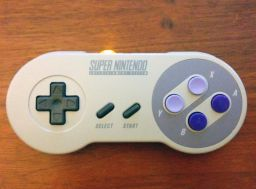 RF modified SNES controller, front.