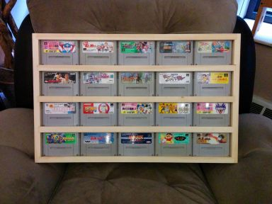All finished, cartridges inserted and on display!