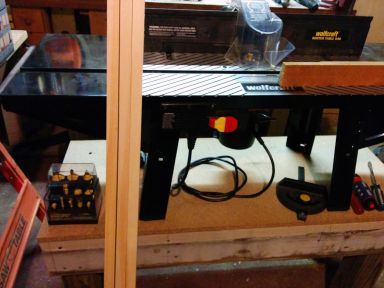 The router table was an invaluable tool.