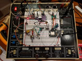 The final tests on a breadboard.