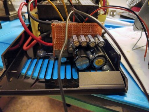 Close up of the front side of the rectifier.