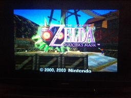 The intro screen for Zelda: Majoras mask.
