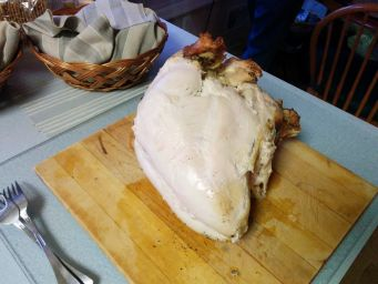 Baked turkey breast.