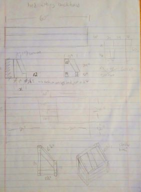 The very first paper plans for the bedsofa.