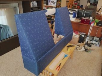 Upholstery complete, side view.