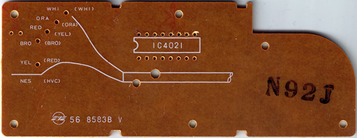 NES-004 PCB: Back side.