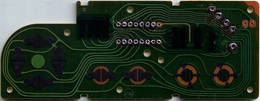 NES-004 PCB: Front side.