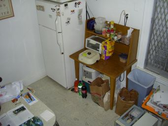 The kitchen hutch which inspired the electrical outlet.