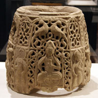 Top section of a water jug, northern Iraq or Syria, late 12th-early 13th century.