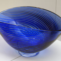 Blue glass bowl (unknown, I missed taking notes).