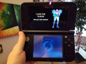 "My clear screen for ""Samus Returns""."