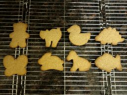 Cornmeal cookies, baked.