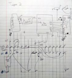 Hand drawn schematic for the Tapper 2.