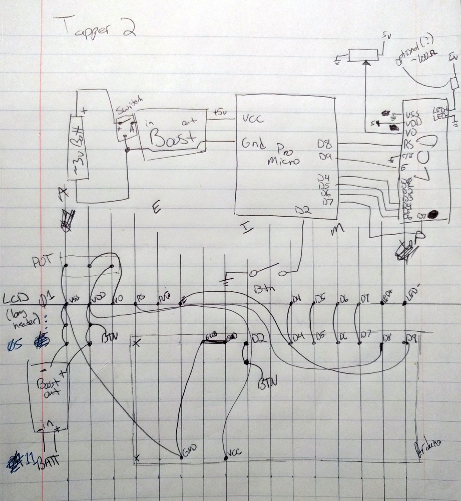 Schematics for my Killer Queen Tapper Box (Making) - Arantius.com