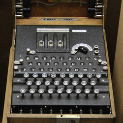 An ENIGMA machine, from 1937.