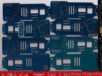 Another more complex board, manufactured by Seeed Studio's Fusion service.  Again, issues highlighted.