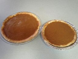 Double-layer pumpkin pie, completed.